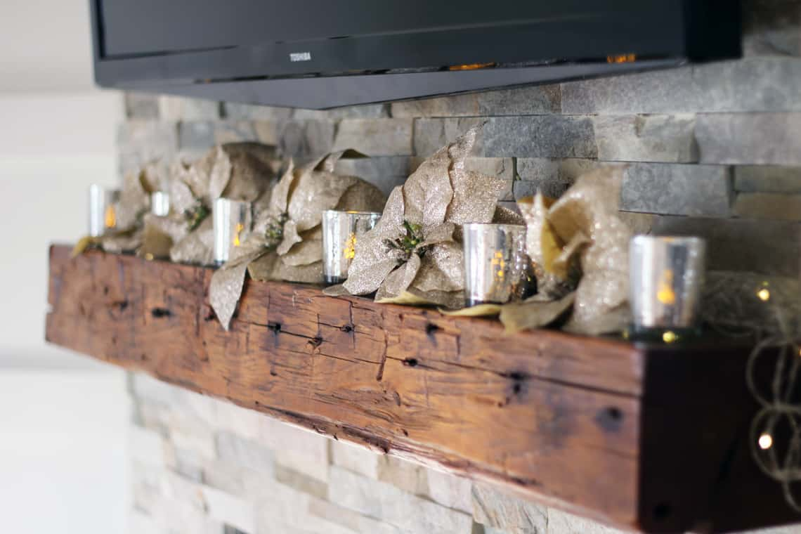 A Gold + Silver Christmas of Lights with At Home mantel