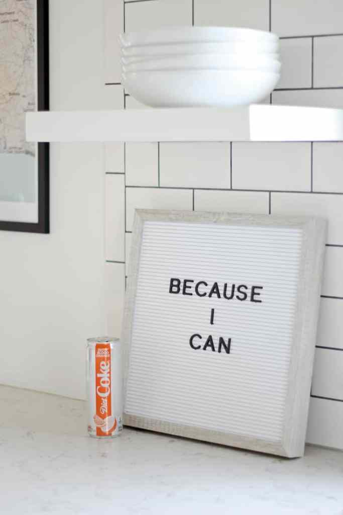 #BecauseICan. An Anti-Resolution Post letter board