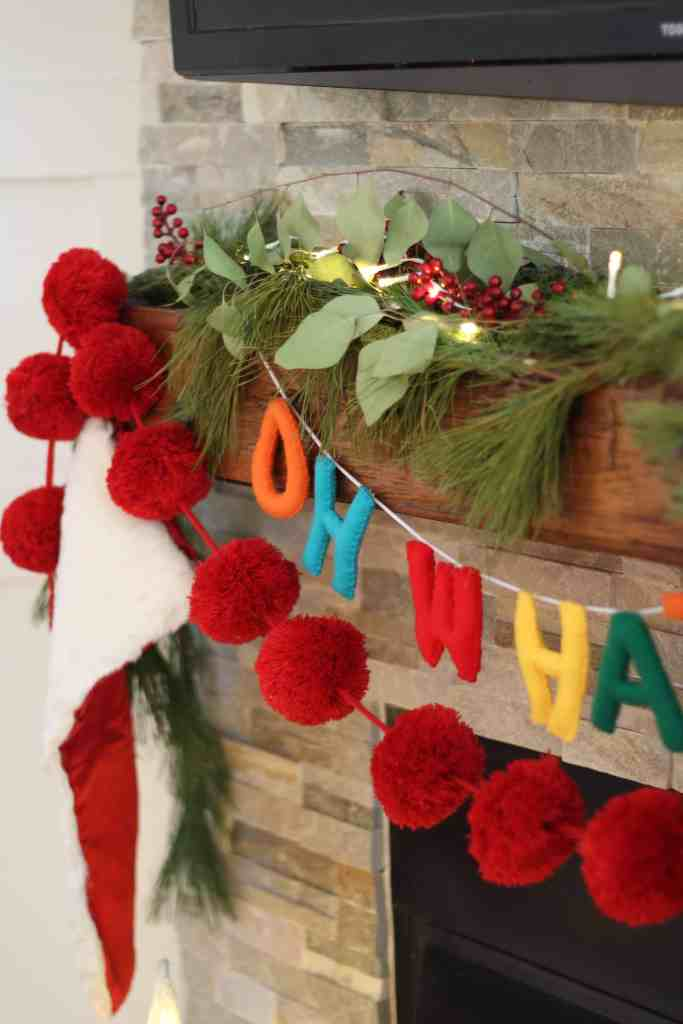 Festive Christmas Living Room garland