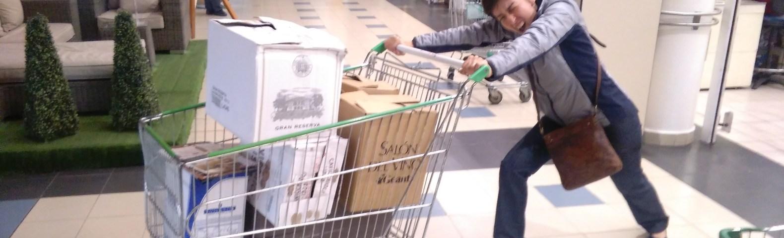 Meu carrinho de compras no Salón del Vino do Géant de 2016