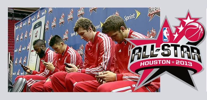 NBA All Star Voting ; Simple Texting Example