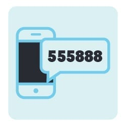Explaining how a text or SMS short code works