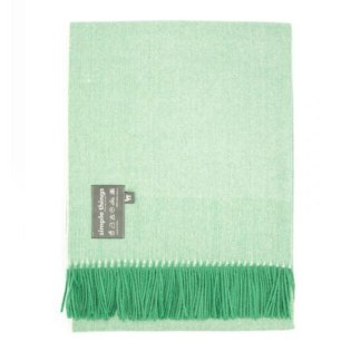 Herringbone Green-Cream Throw