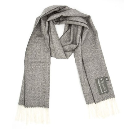 diamond grey cream scarf