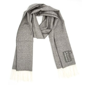 diamond grey cream scarf