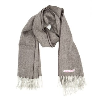 Herringbone Aubergine Grey
