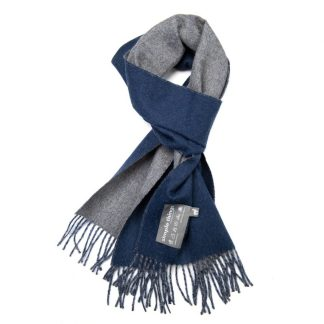 Double-Face Navy Grey Scarf