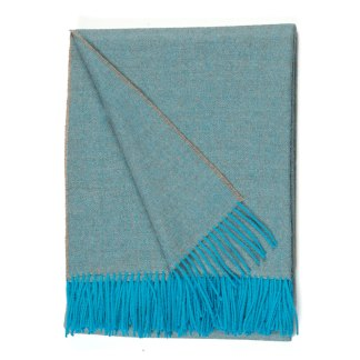 Herringbone Azure Grey Throw