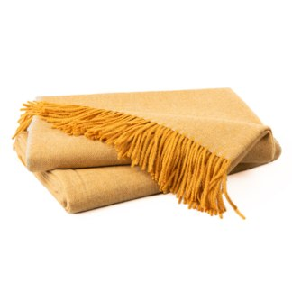 Herringbone Ochre Cream Throw