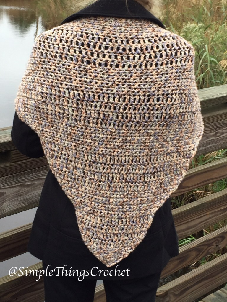 Scalloped Driftwood Shawl Simple Things Crochet