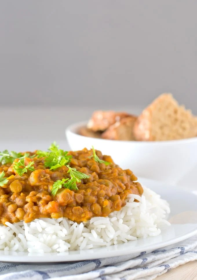 Vegan lentil curry #vegan