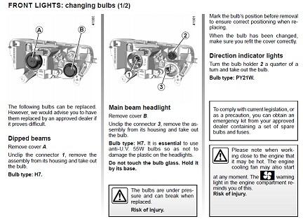 Car bulb change