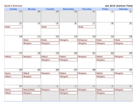 2010-01 Scott's Fitness Calendar
