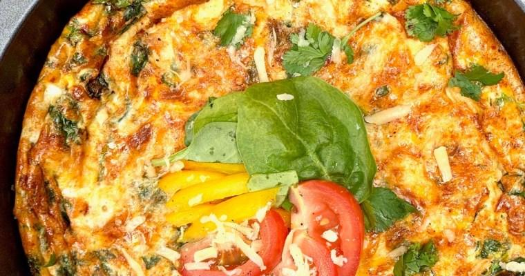 Roasted Vegetable Omelette Recipe