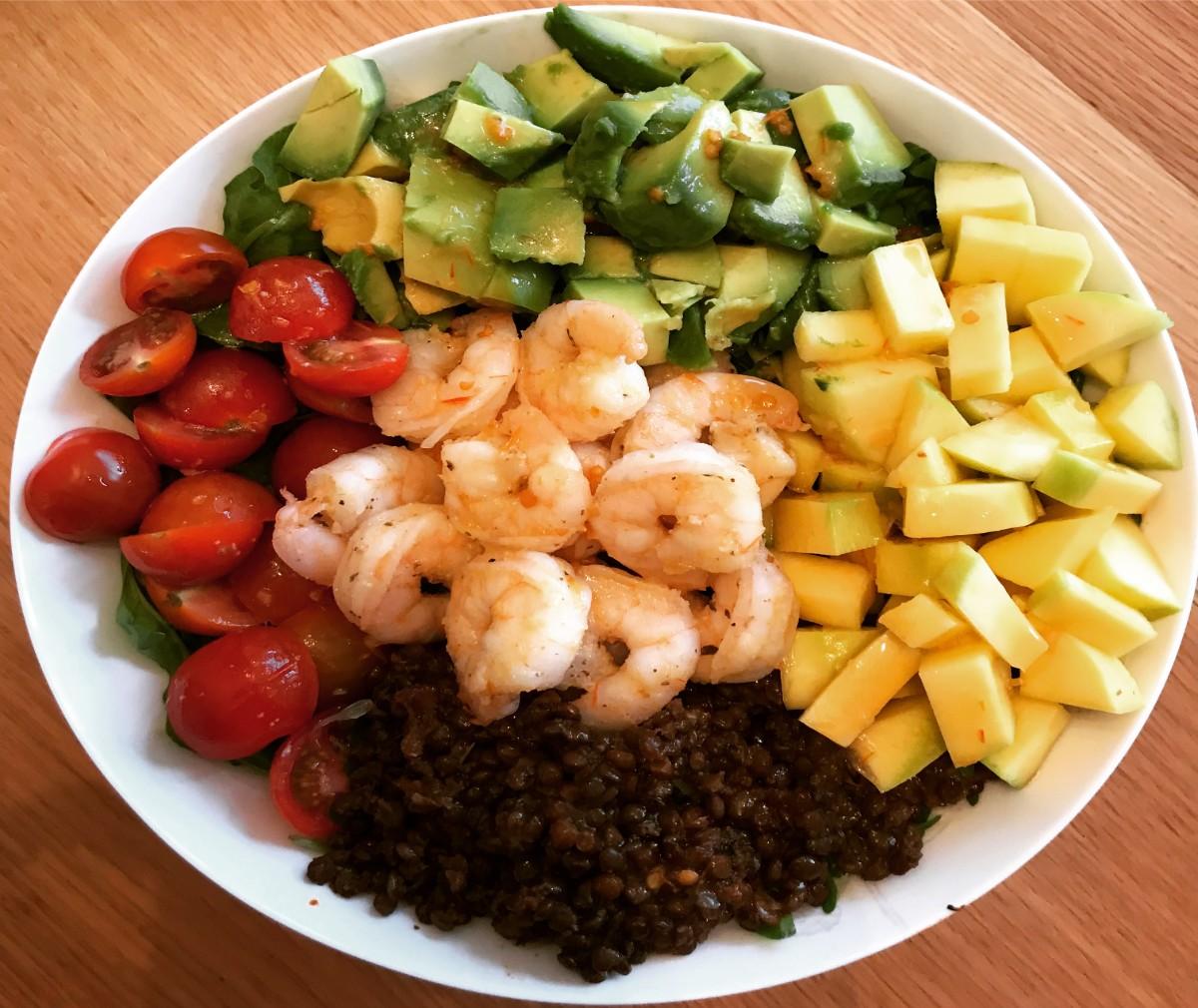 Easy Prawn and Avocado Salad