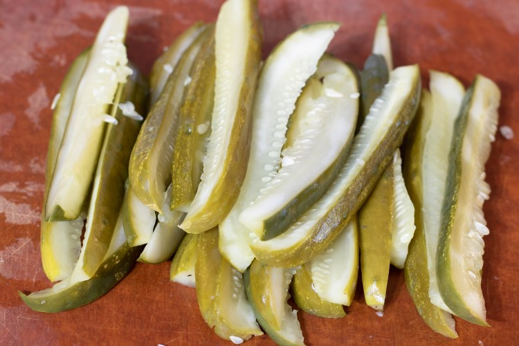 sliced pickles for low carb fried pickles