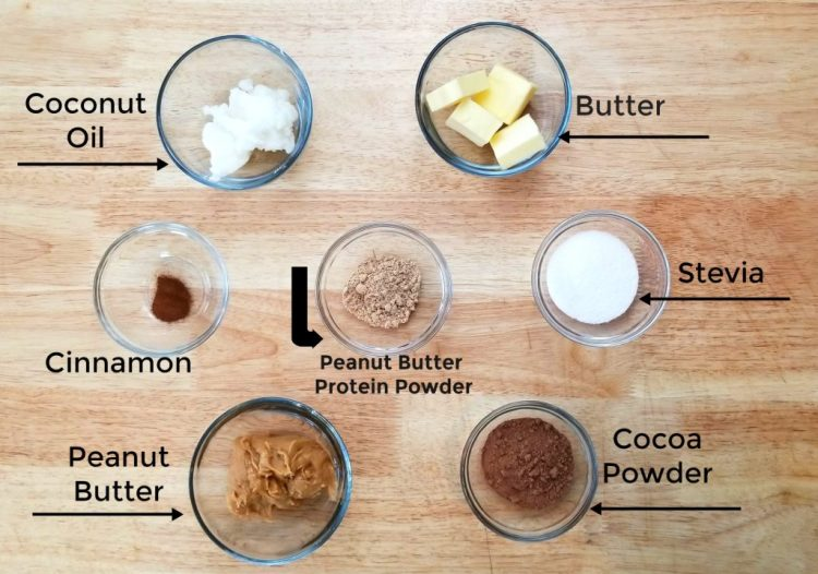 Chocolate PB Bombs Ingredients