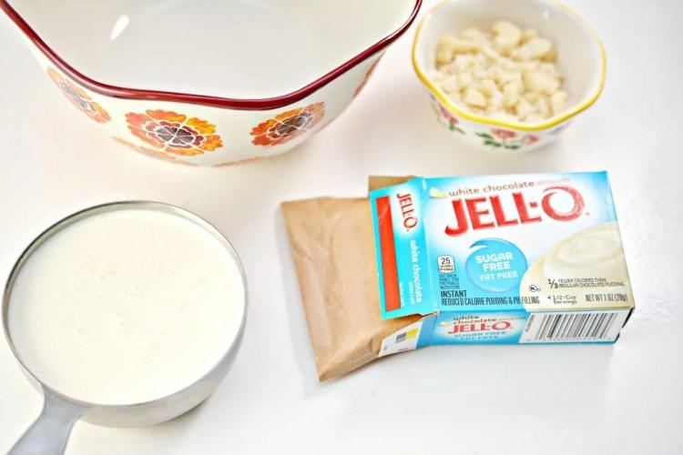 white chocolate ice cream bites