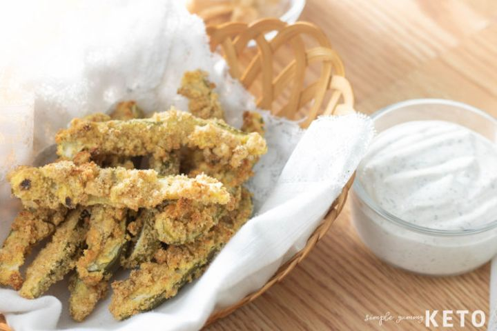 keto and low carb fried pickles