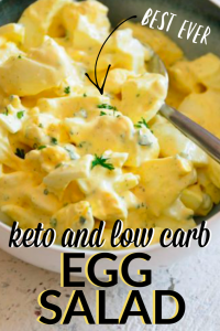 keto and low carb egg salad recipe