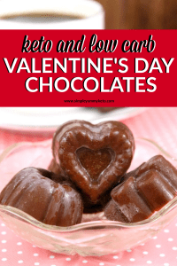 keto and low carb sugar free chocolate for Valentine's Day