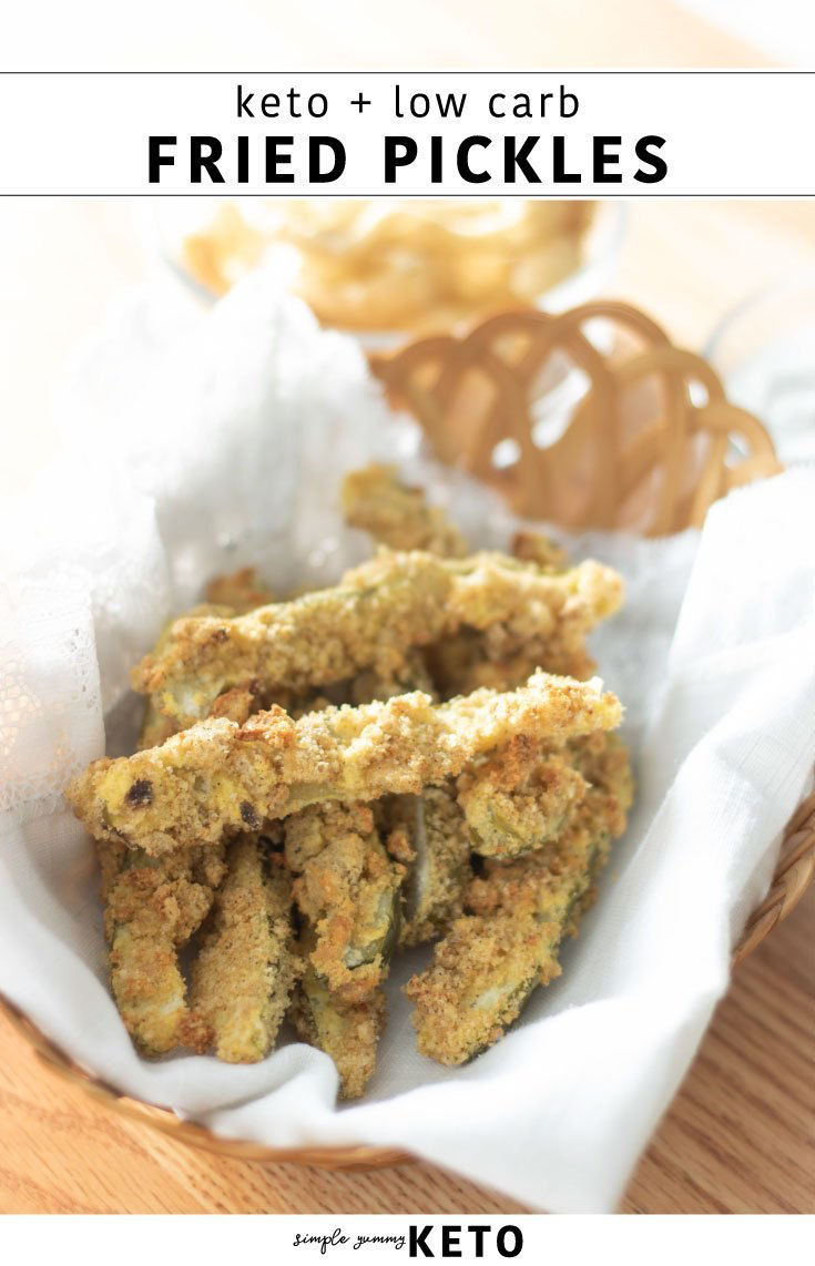 keto and low carb fried pickle recipe