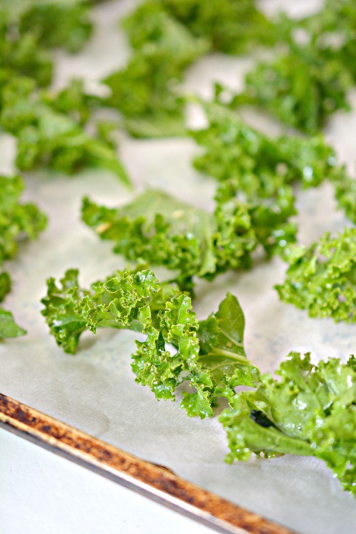 ranch kale chips ready to bake