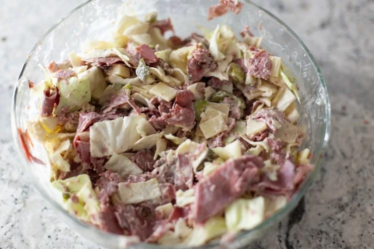 keto reuben salad