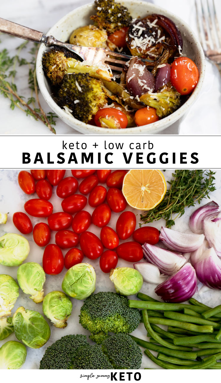 keto balsamic roasted veggie