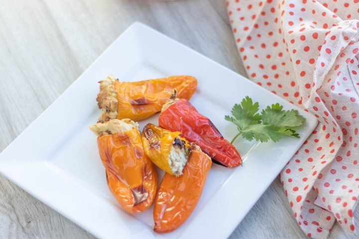 low carb and keto stuffed sweet peppers