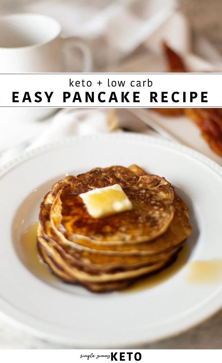 easy four ingredient keto pancake recipe
