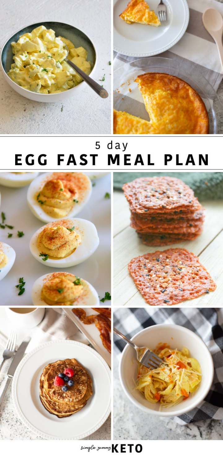 Ketogenic diet 5 day egg fast meal plan.