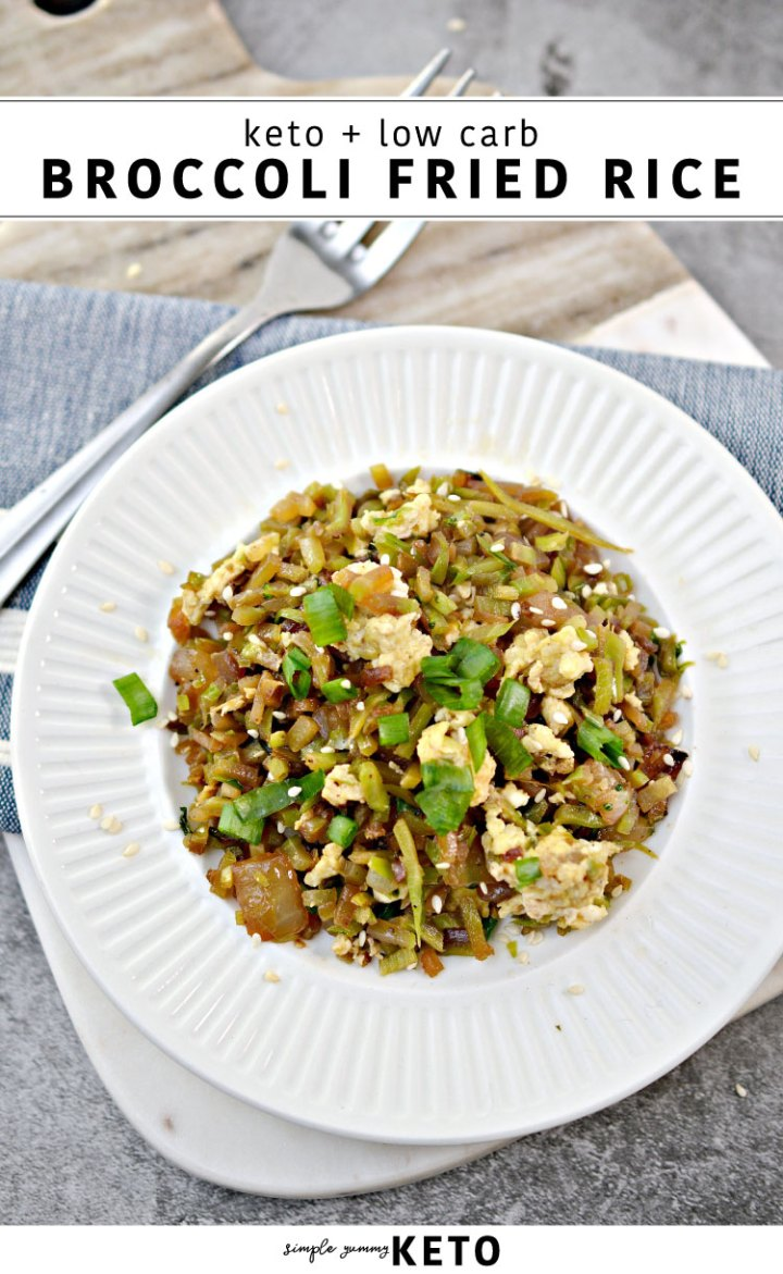 Keto and low carb fried rice recipe that the entire family loves.