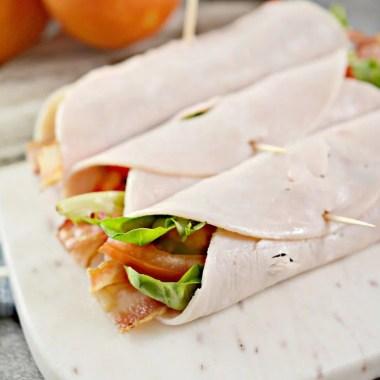keto and low carb blt turkey wrap