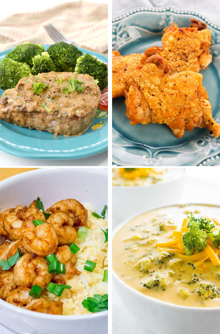 easy keto dinner recipes and a free meal plan