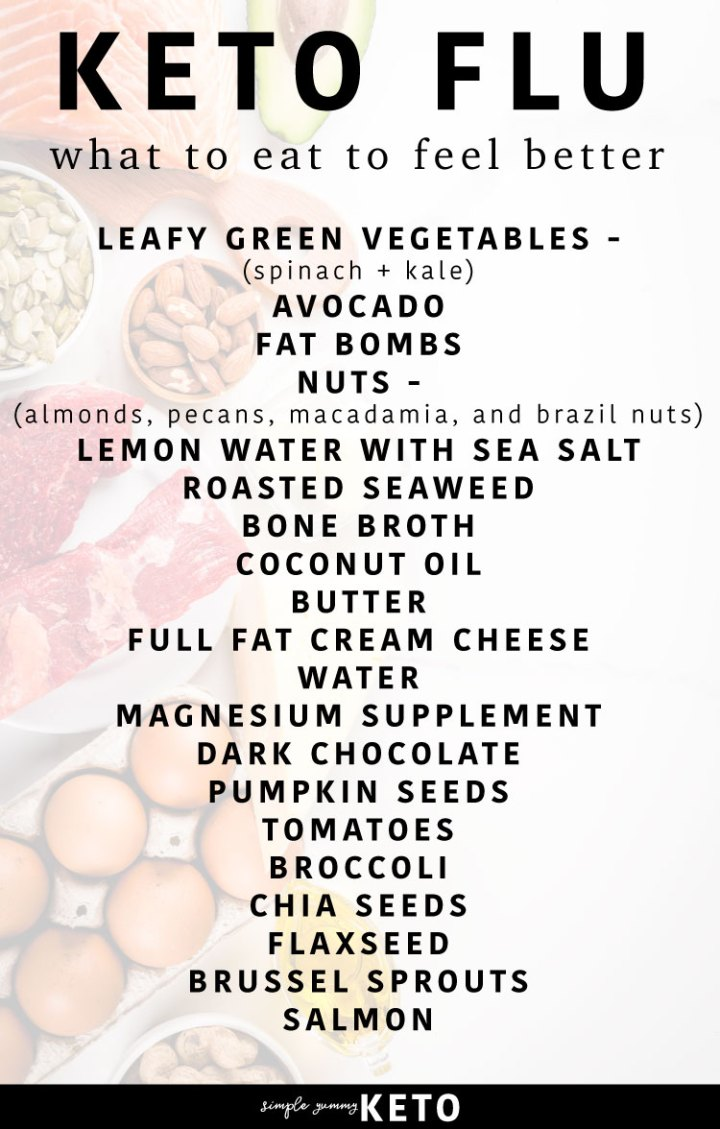 Keto flu - what to eat to help cure the Keto flu