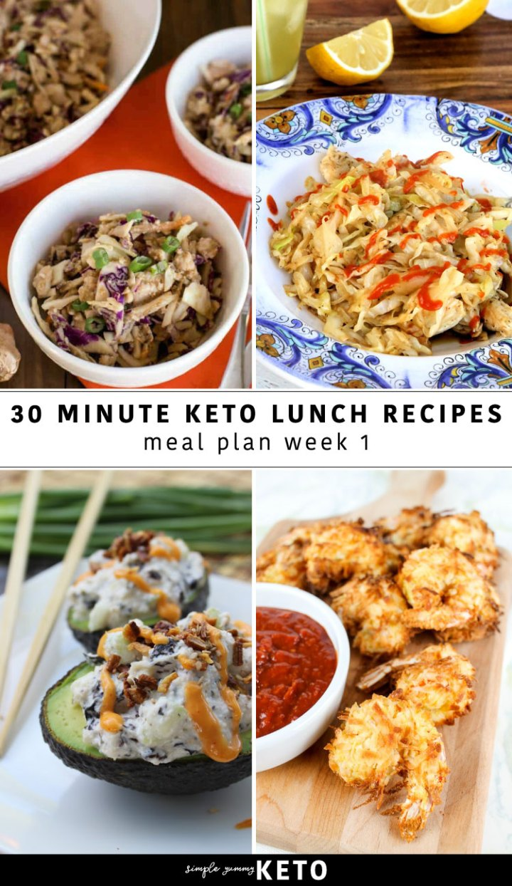 Keto lunch recipes meal plan week 1