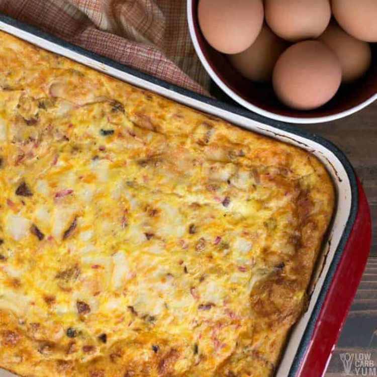 low carb and keto breakfast casserole