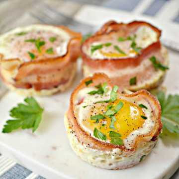 low carb and keto breakfast cups perfect for meal prep