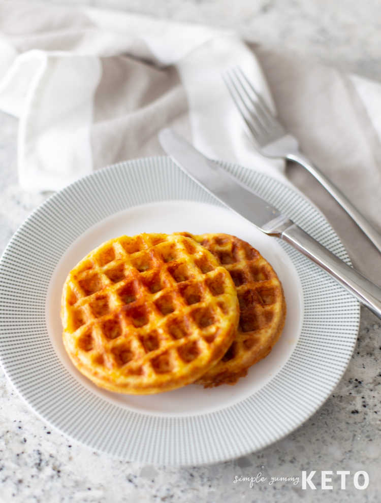 low carb and keto friendly chaffle recipe