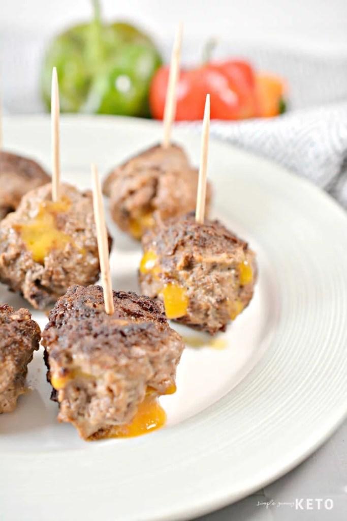 Cheese Stuffed Taco Meatballs