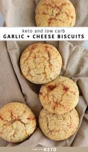keto and low carb cheese and garlic biscuit recipe