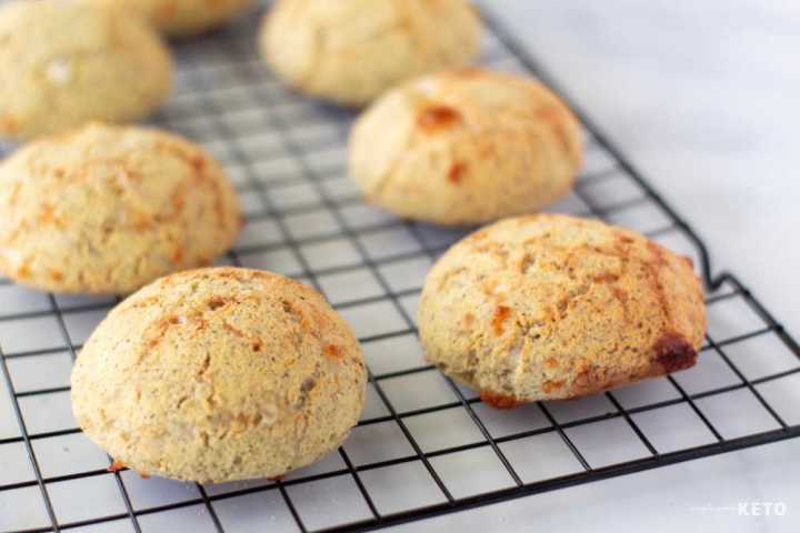 keto biscuits cooling down