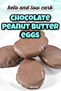 keto Reese's chocolate peanut butter eggs