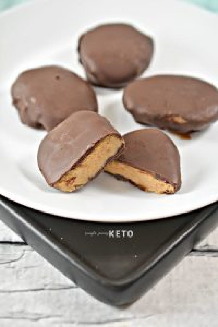peanut butter eggs - keto and low carb