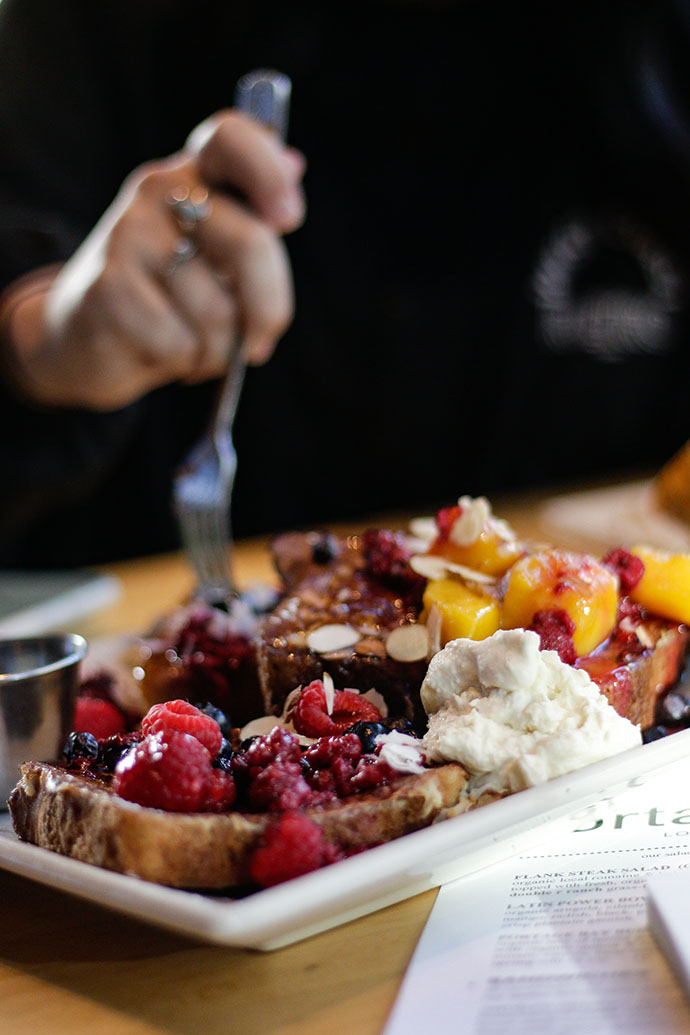 seattle organic restaurant - french toast
