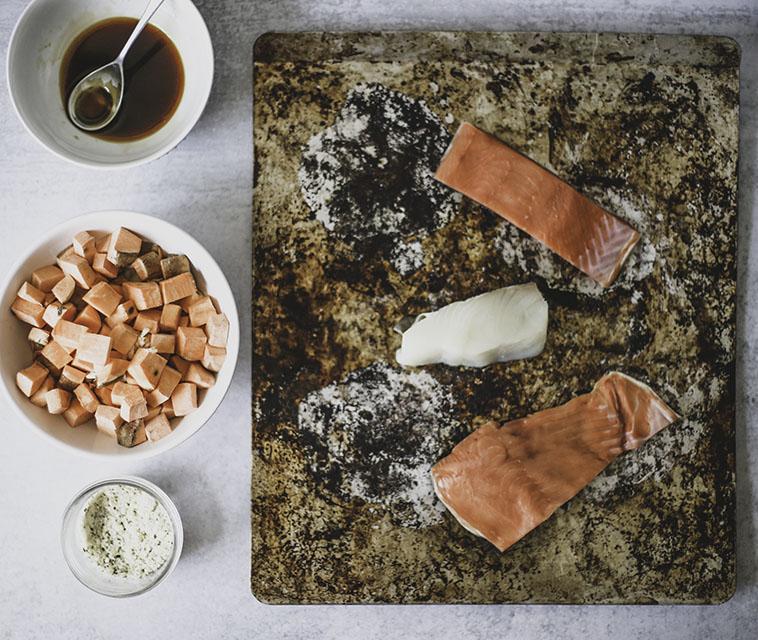 SOY FREE Delicious Wild Alaska Salmon Sheet Pan Dinner | AIP, Paleo, GF