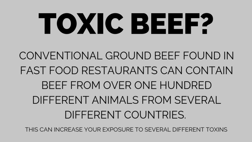 Grass fed beef vs. conventional - Toxins