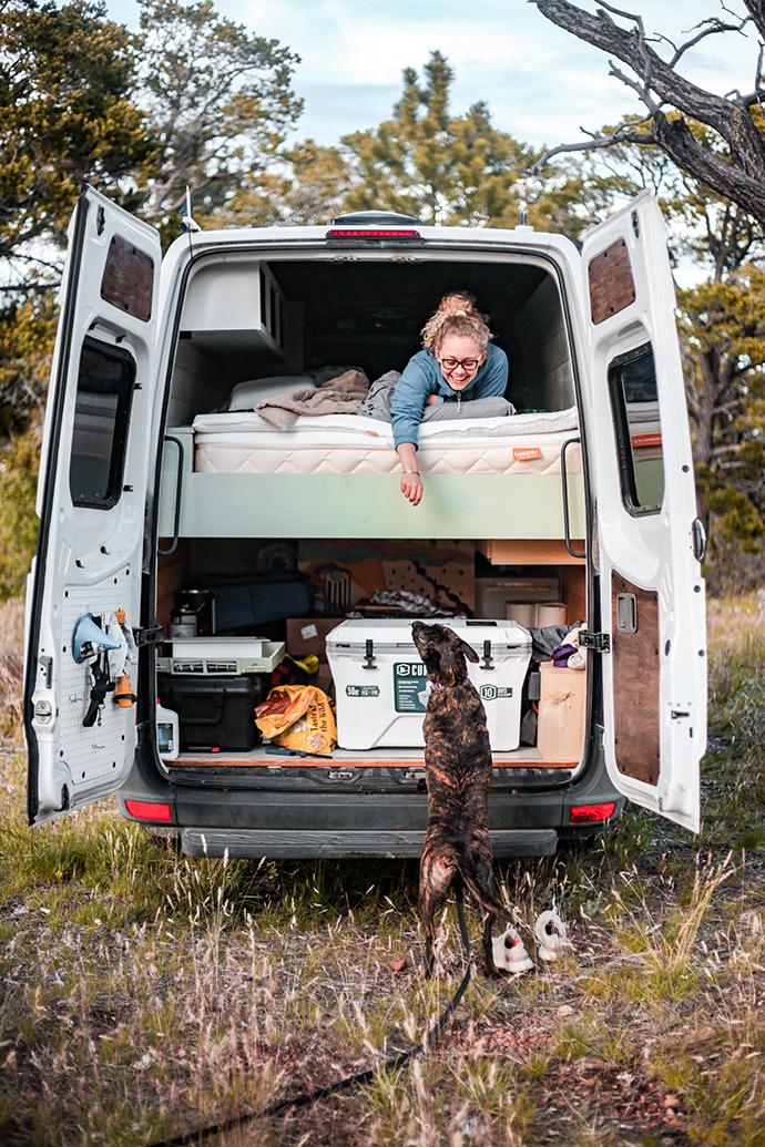 Van Life Minimalist Living & Organic Mattress