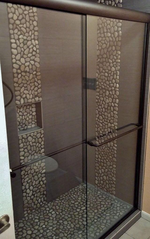 pebble tile shower conversion 1